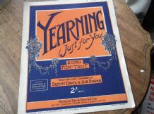 VINTAGE ORIGINAL SHEET MUSIC 1925 YEARNING JUST FOR YOU PIANO UKELELE BANJELELE